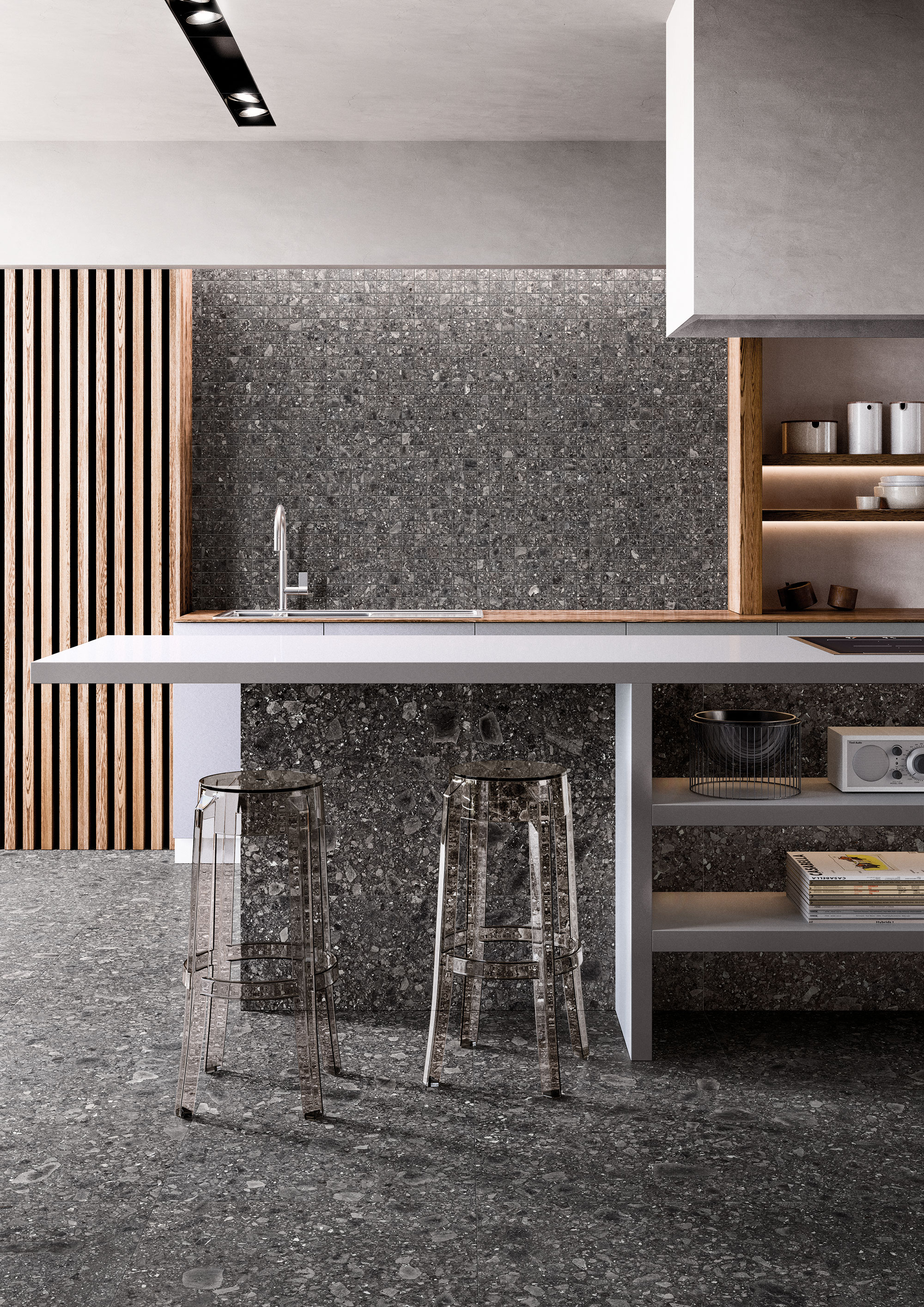 Lombarda-Black-60x60-30x60-Mosaico-Nat-Amb-Cucina   M2quare